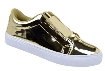 Tenis branco com dourado ou prata tendencia que veio para ficar