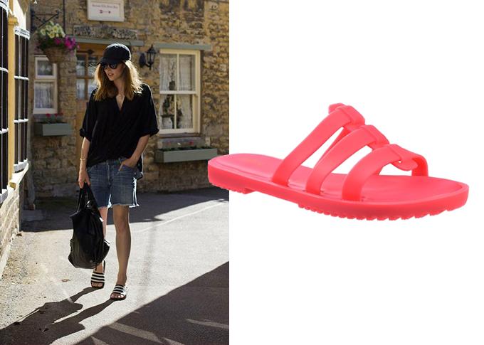 Chinelo feminino rosa neon Melissa Flox Slide