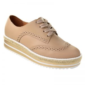 Oxford feminino brogue Vizzano bege