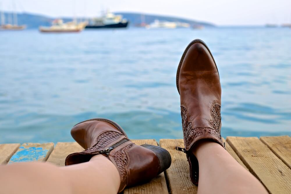 botas confortáveis