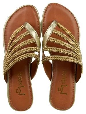 Como usar rasteirinha dourada com estilo