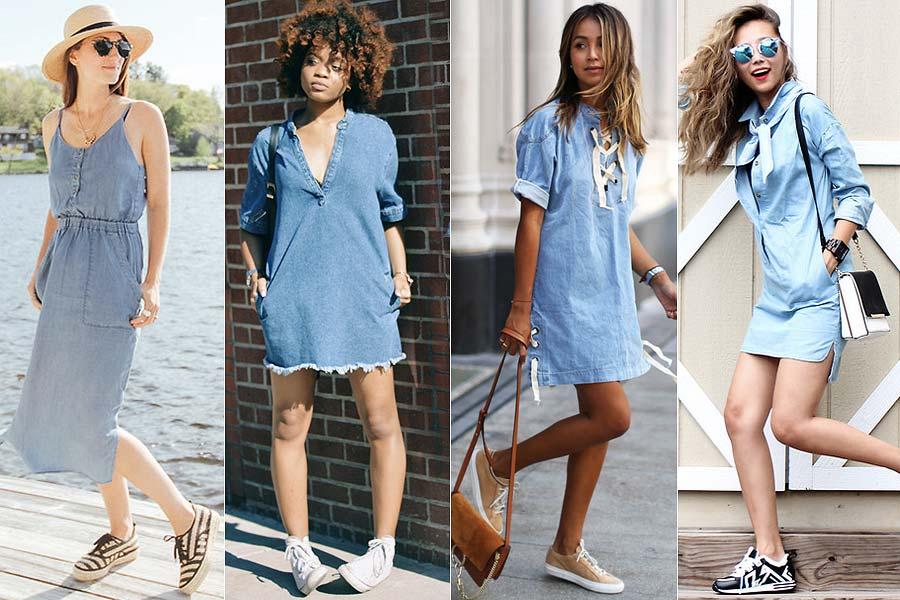 Saiba como usar vestido com tênis e arrasar no look