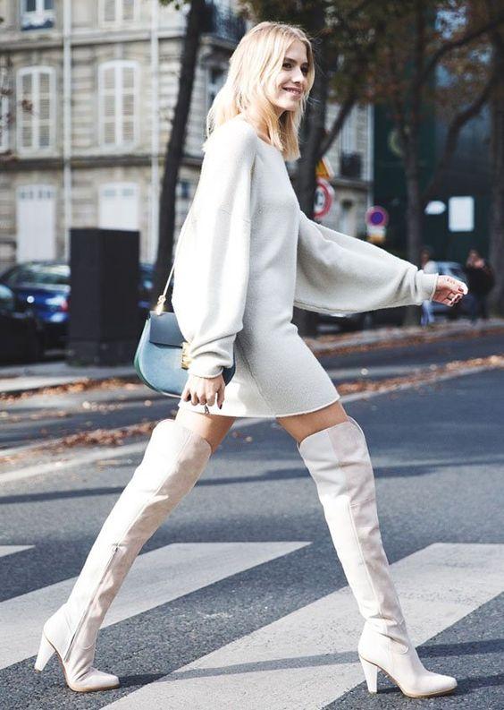 Bota branca é a queridinha das fashionistas