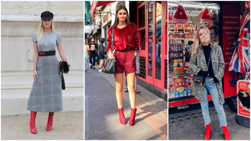 Bota vermelha está com tudo: aprenda a criar looks