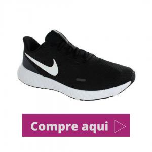 Tênis Nike Revolution 5 Black/White Feminino - PRETO