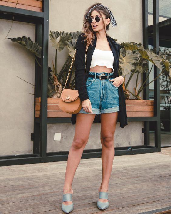 14 looks com short jeans para o verao brasileiro