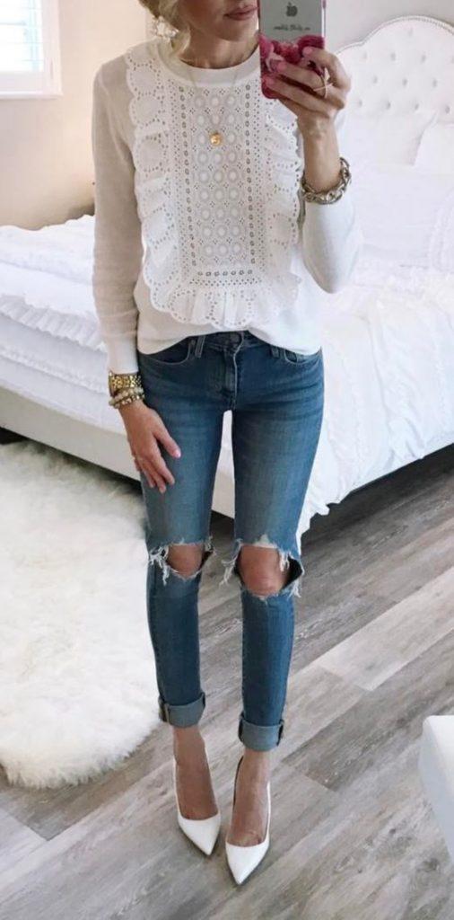 Calca jeans destroyed 21 maneiras de usar