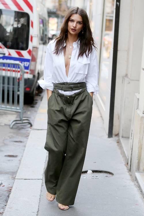 Calca pantalona em x looks