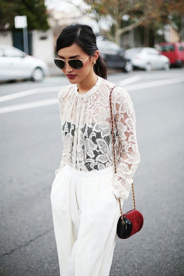 Blusa transparente em 17 looks
