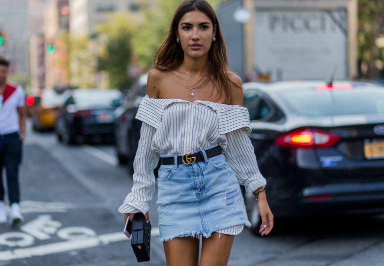Saia jeans em looks inspiradores