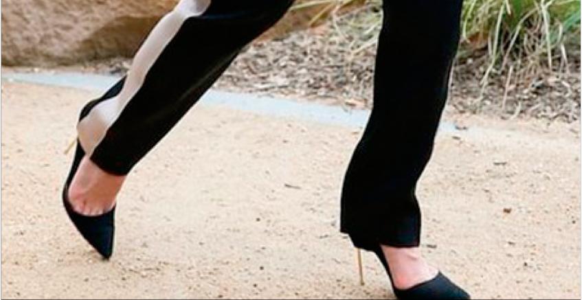 Sapato de Salto com Moletom