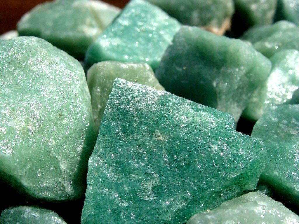 Vários quartzos verdes