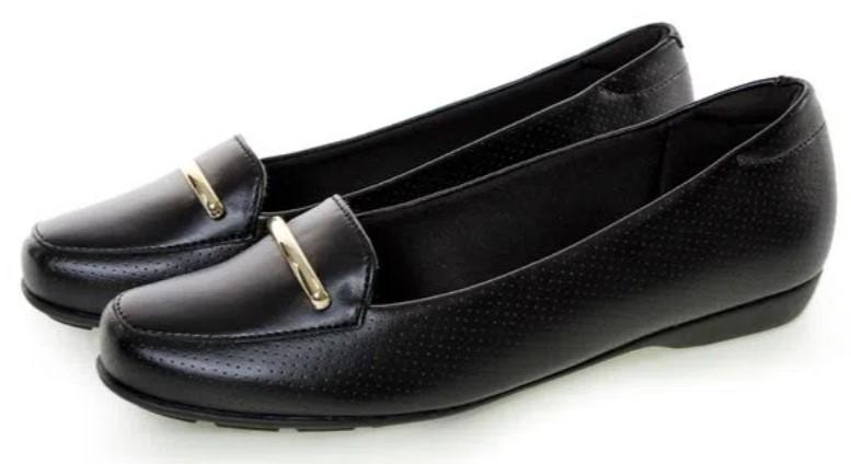 sapatos femininos confortáveis: Mocassim preto