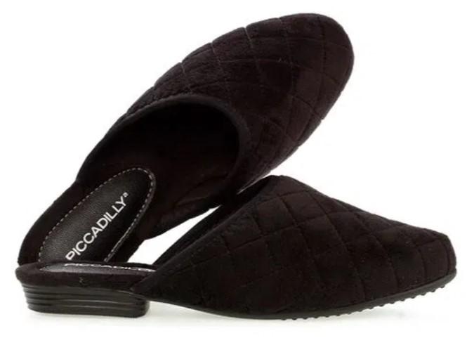 sapatos femininos confortáveis: mule preto