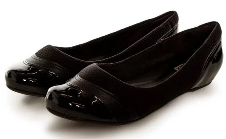 sapatos femininos confortáveis: Sapatilha preta