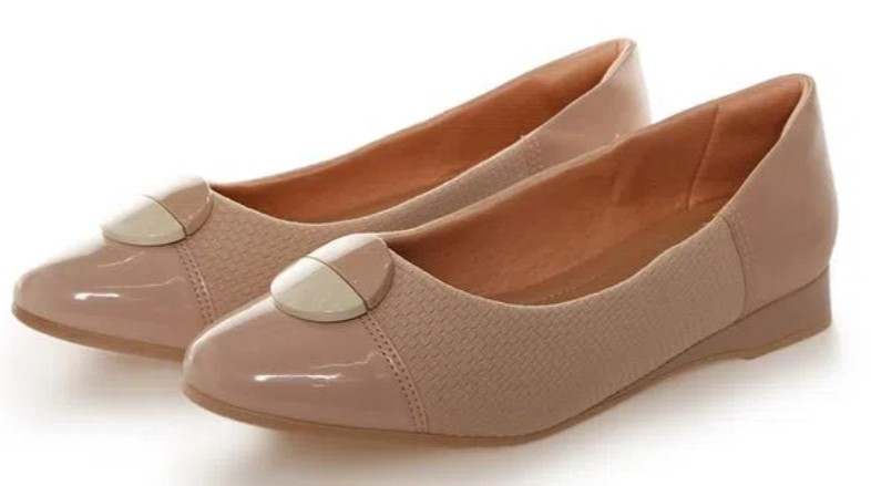 sapatos femininos confortáveis: Sapatilha nude