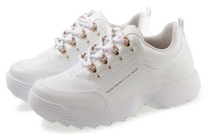 sapatos femininos confortáveis: tênis branco