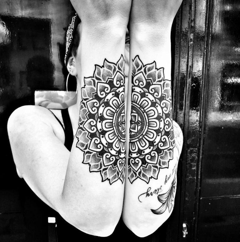 Tatuagem mandala no braço