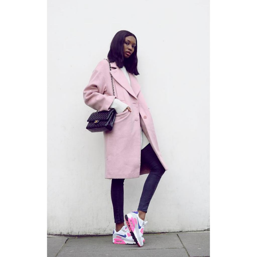 look com tênis air max pink