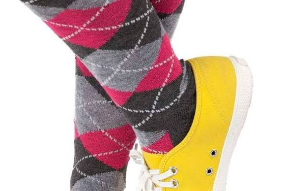 Meias coloridas, moda anos 80