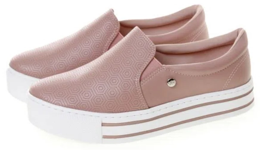 Slip On rosa, com solado branco